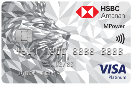 Amanah MPower Platinum Credit Card-i - earn Cashback with HSBC